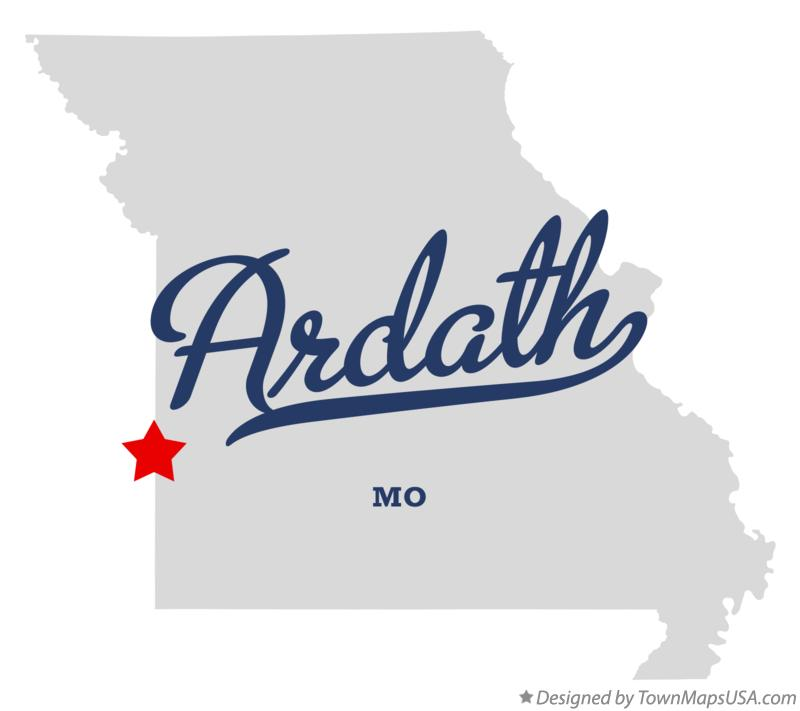 Map of Ardath Missouri MO