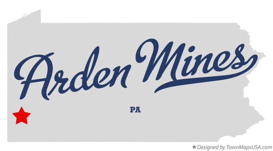 Map of Arden Mines Pennsylvania PA