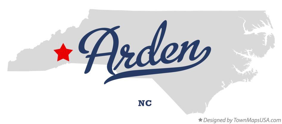 Map of Arden, NC, North Carolina