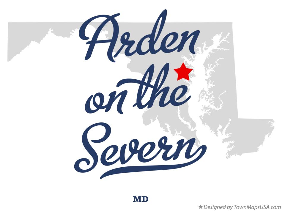 Map of Arden on the Severn Maryland MD