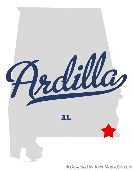 Map of Ardilla Alabama AL