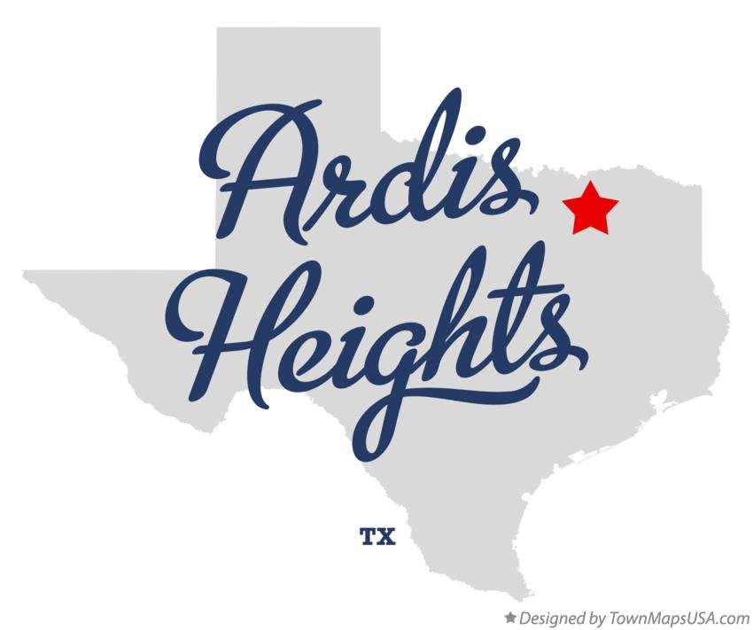 Map of Ardis Heights Texas TX