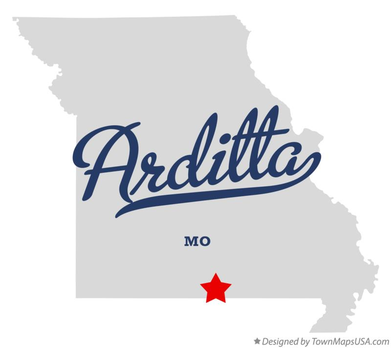 Map of Arditta Missouri MO