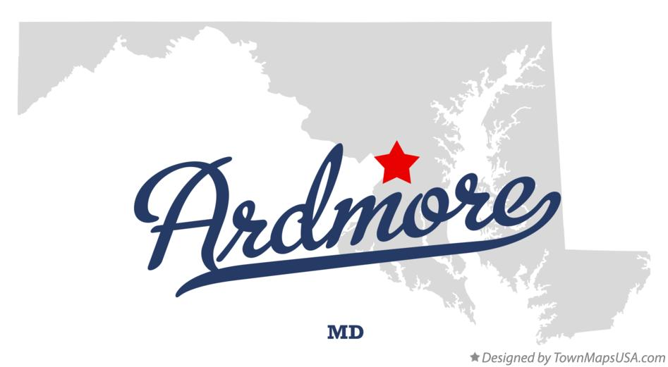 Map of Ardmore Maryland MD