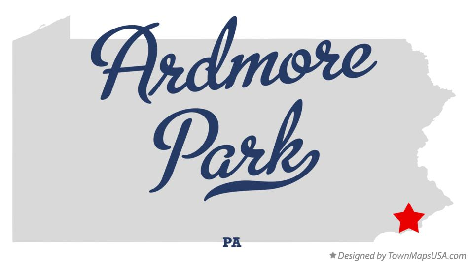 Map of Ardmore Park Pennsylvania PA