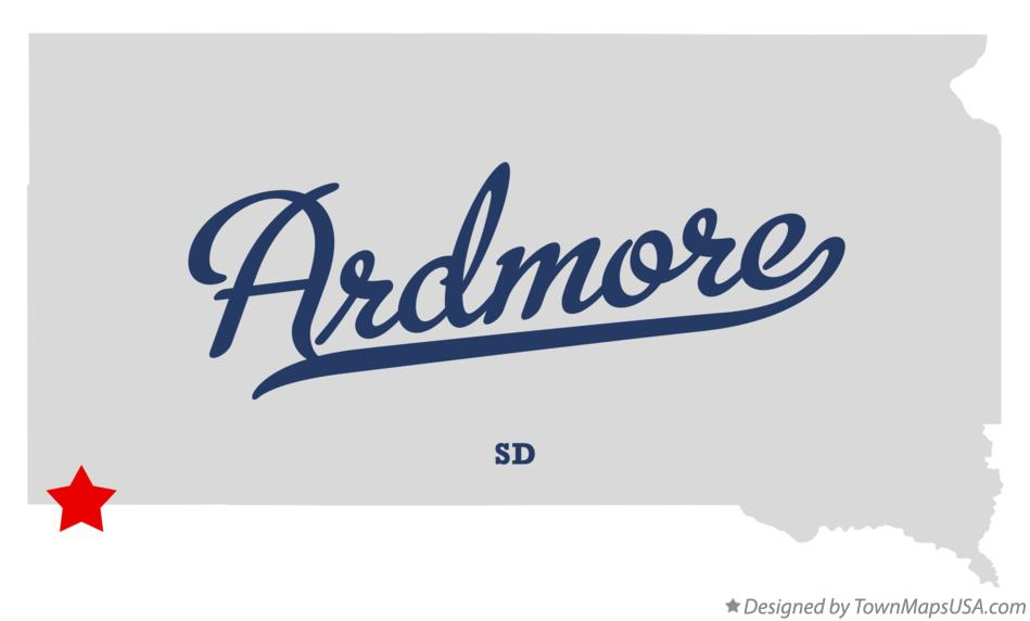 Map of Ardmore South Dakota SD