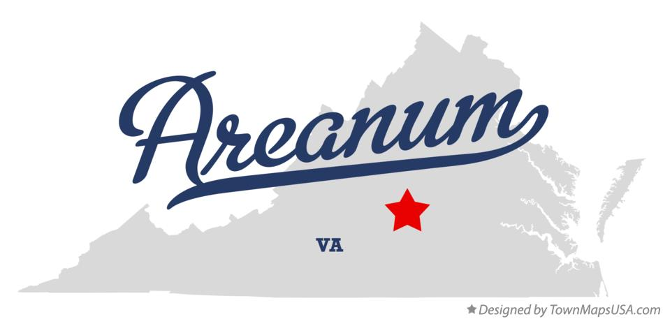 Map of Areanum Virginia VA
