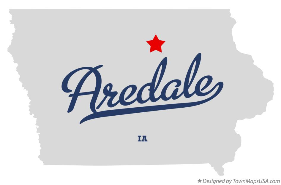 Map of Aredale Iowa IA
