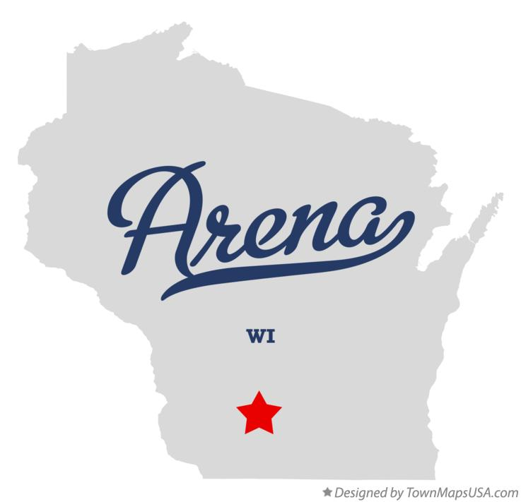 Map of Arena Wisconsin WI