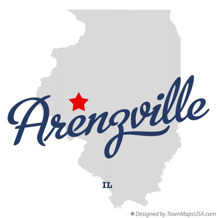 Map of Arenzville Illinois IL