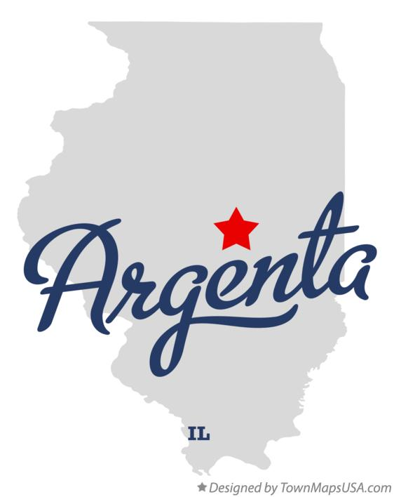 Map of Argenta Illinois IL