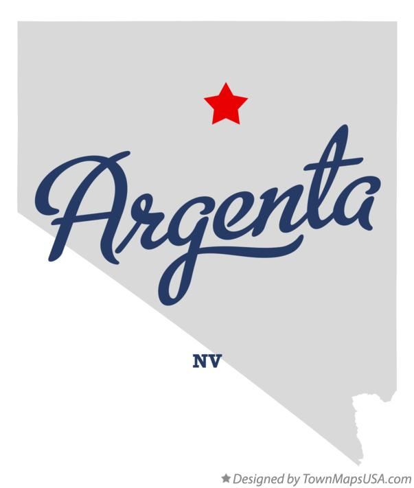 Map of Argenta Nevada NV