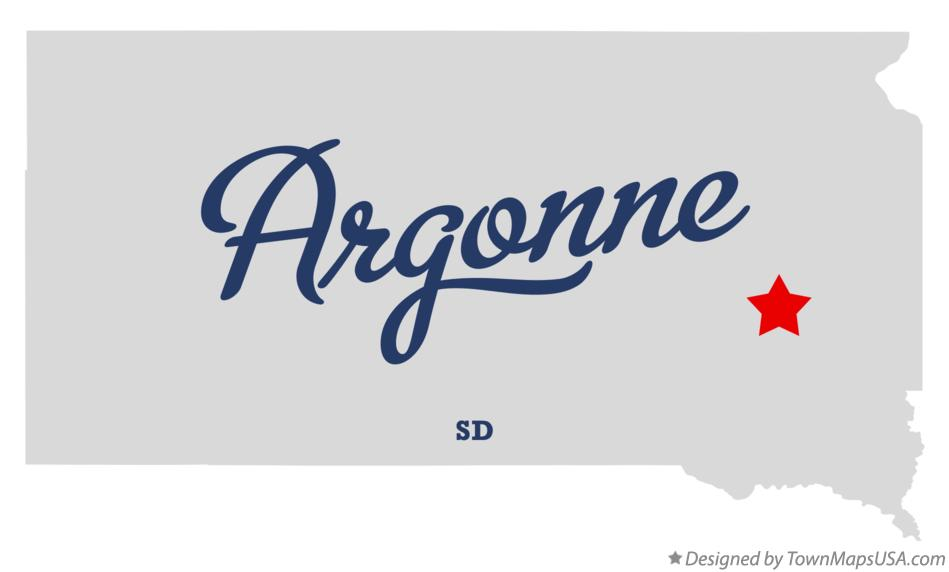 Map of Argonne South Dakota SD