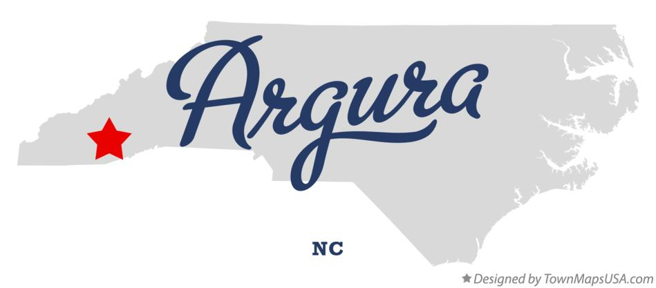 Map of Argura North Carolina NC