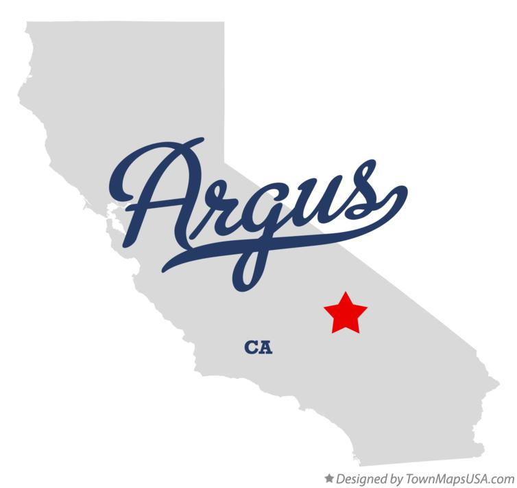Map of Argus California CA