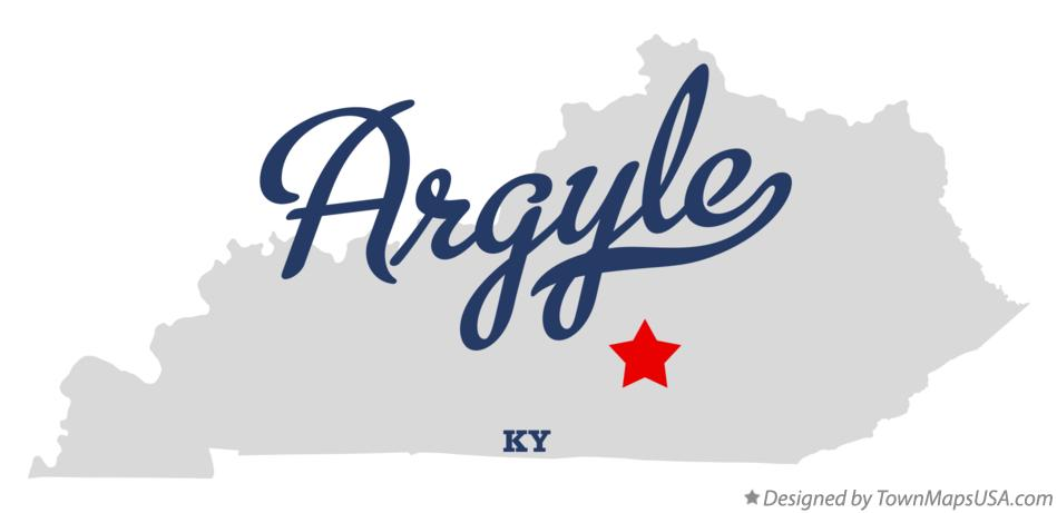 Map of Argyle Kentucky KY