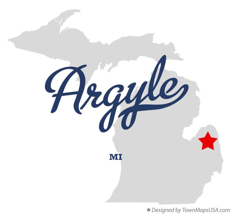 Map of Argyle Michigan MI