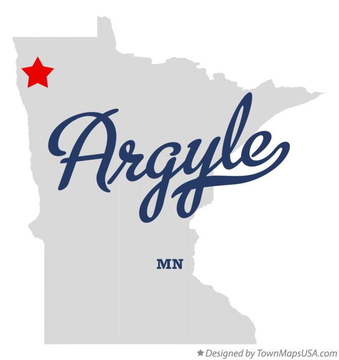 Map of Argyle Minnesota MN