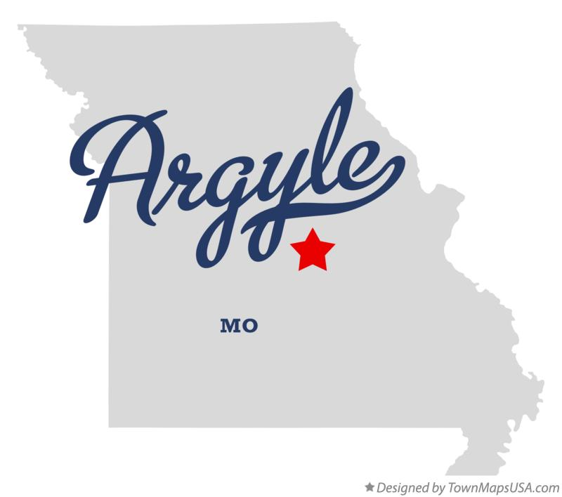 Map of Argyle Missouri MO