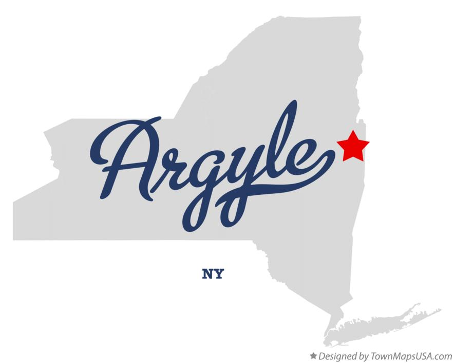 Map of Argyle New York NY