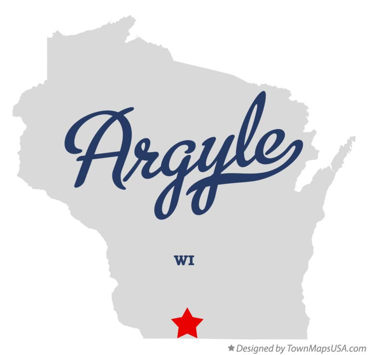Map of Argyle Wisconsin WI