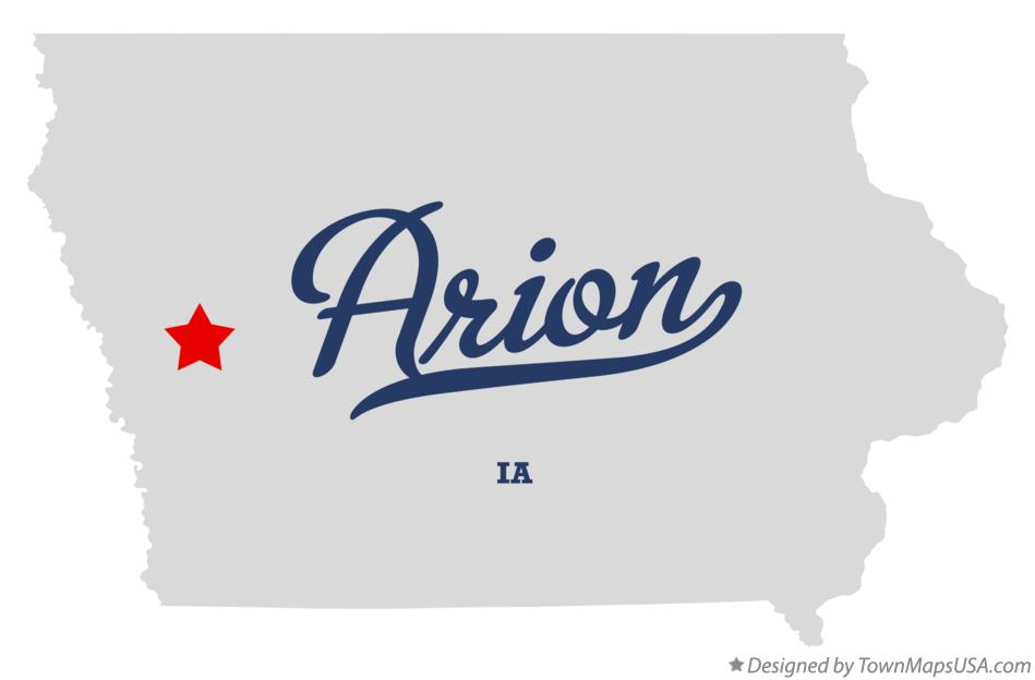 Map of Arion Iowa IA