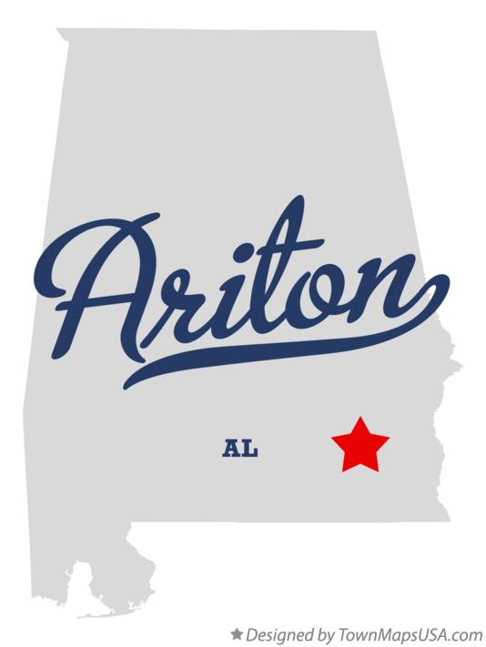 Map of Ariton Alabama AL