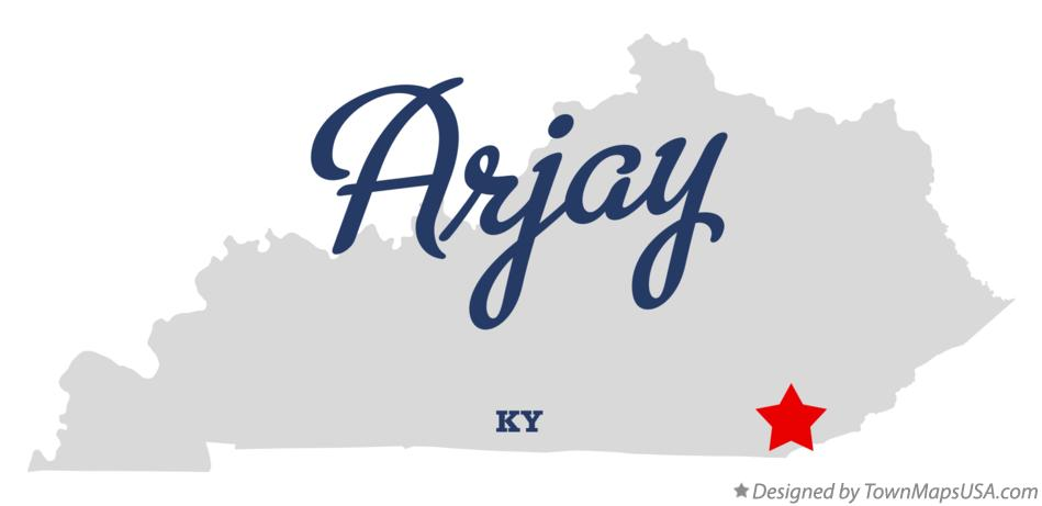 Map of Arjay Kentucky KY