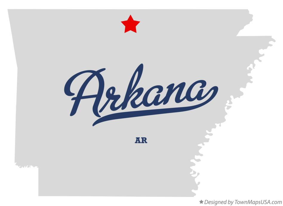 Map of Arkana Arkansas AR