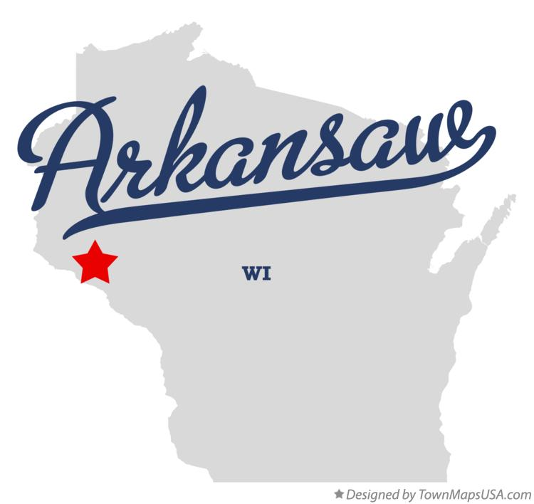 Map of Arkansaw Wisconsin WI