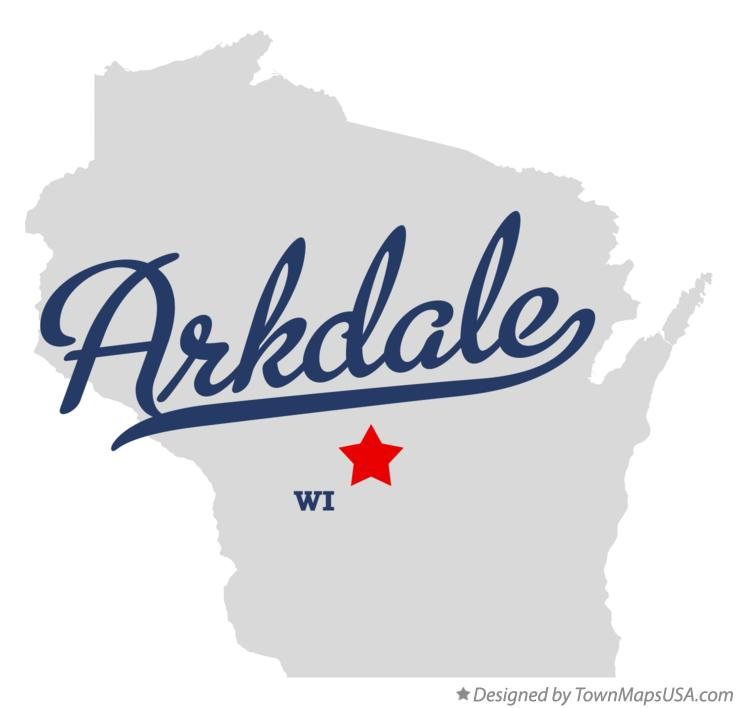 Map of Arkdale Wisconsin WI