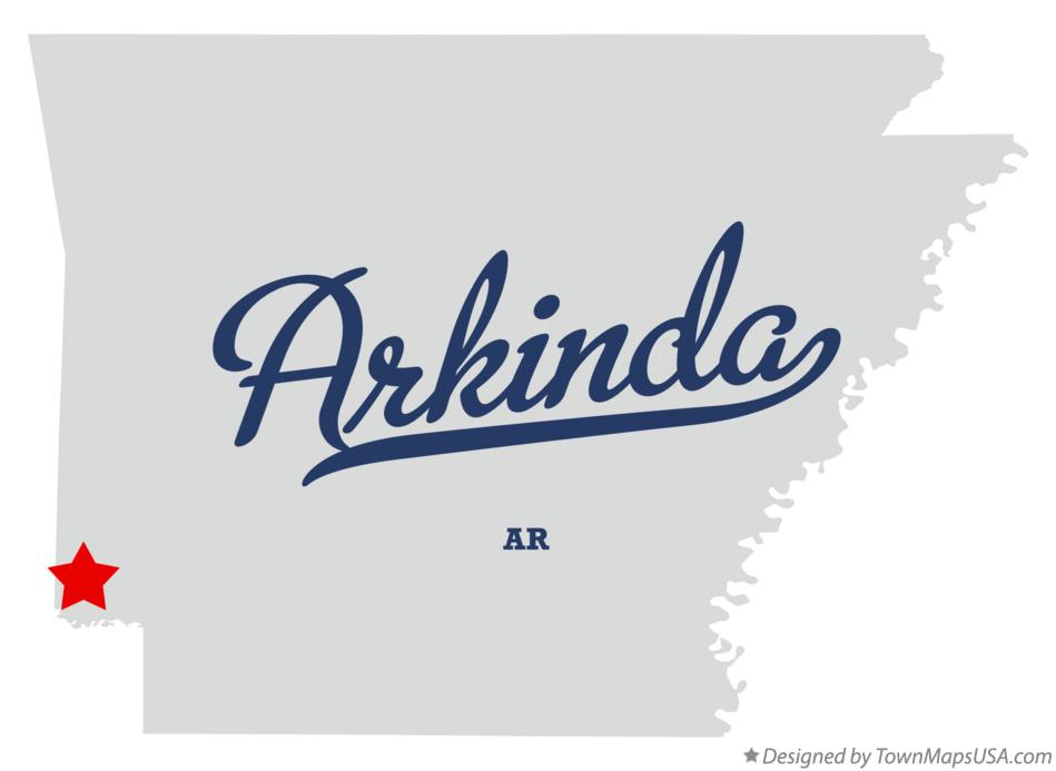 Map of Arkinda Arkansas AR