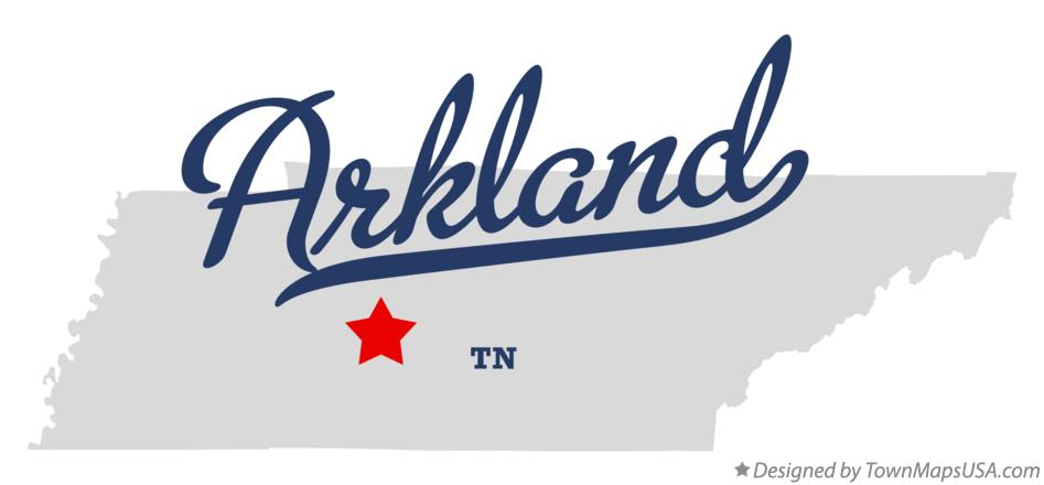 Map of Arkland Tennessee TN