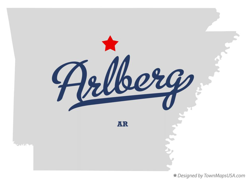 Map of Arlberg Arkansas AR