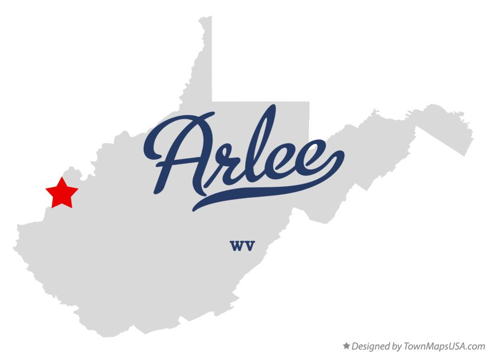 Map of Arlee West Virginia WV