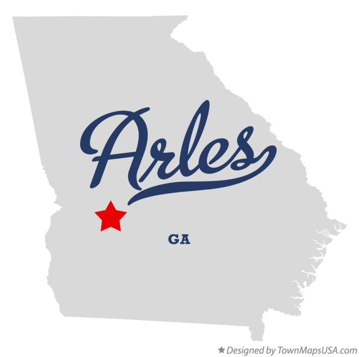 Map of Arles Georgia GA