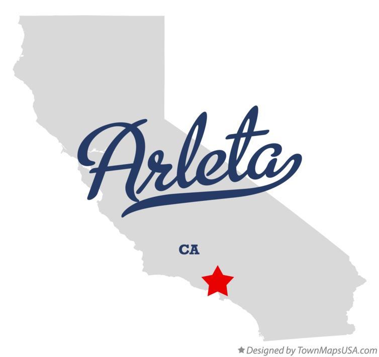 Arletacalifornia Map.Map Of Arleta Ca California