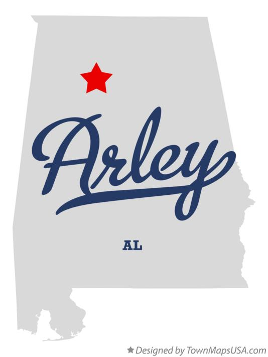 Map of Arley Alabama AL