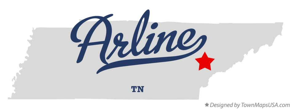Map of Arline Tennessee TN