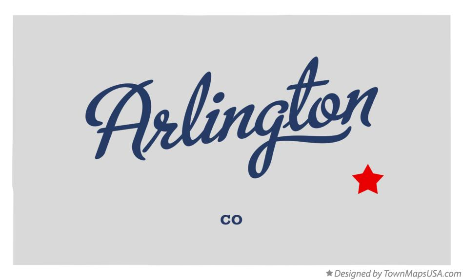 Map of Arlington Colorado CO
