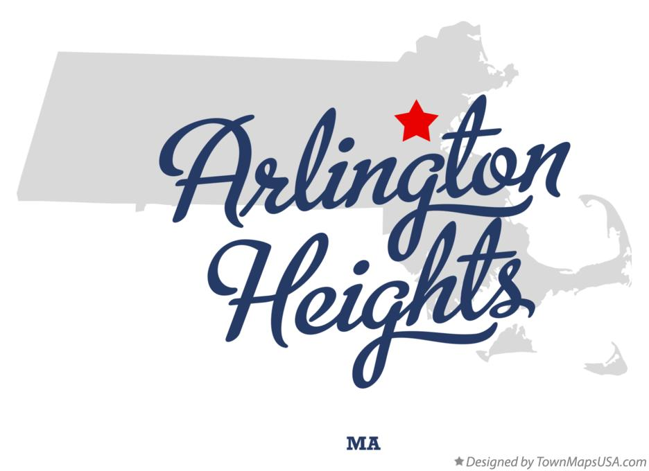 Map of Arlington Heights Massachusetts MA