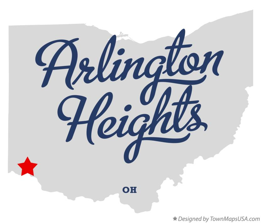 Map of Arlington Heights Ohio OH