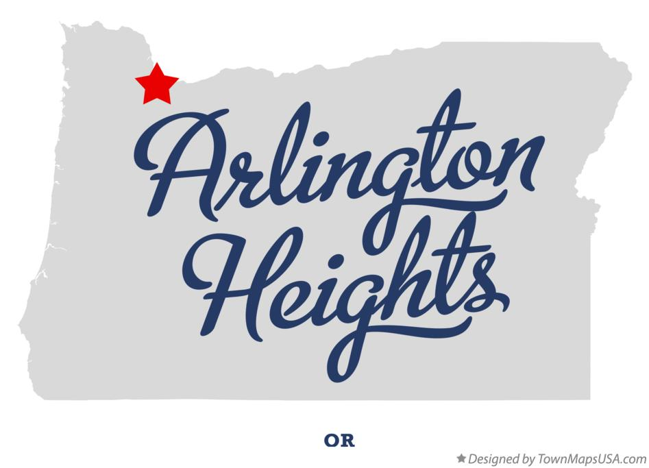 Map of Arlington Heights Oregon OR