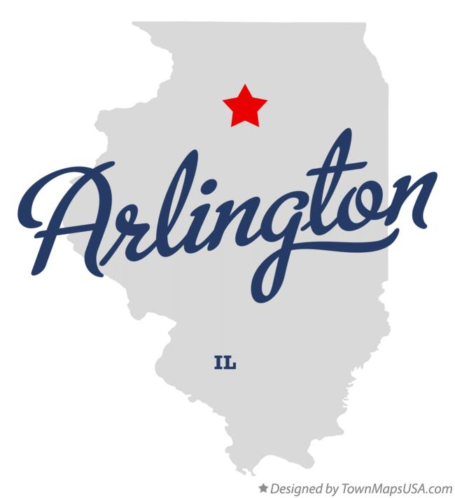 Map Of Arlington Il Illinois