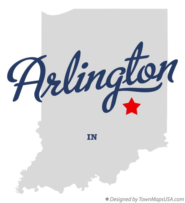 Map of Arlington Indiana IN