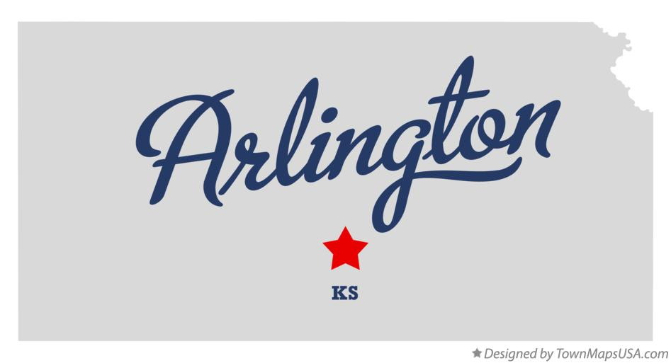 Map of Arlington Kansas KS
