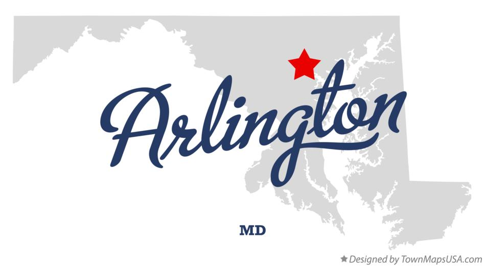 Map of Arlington Maryland MD
