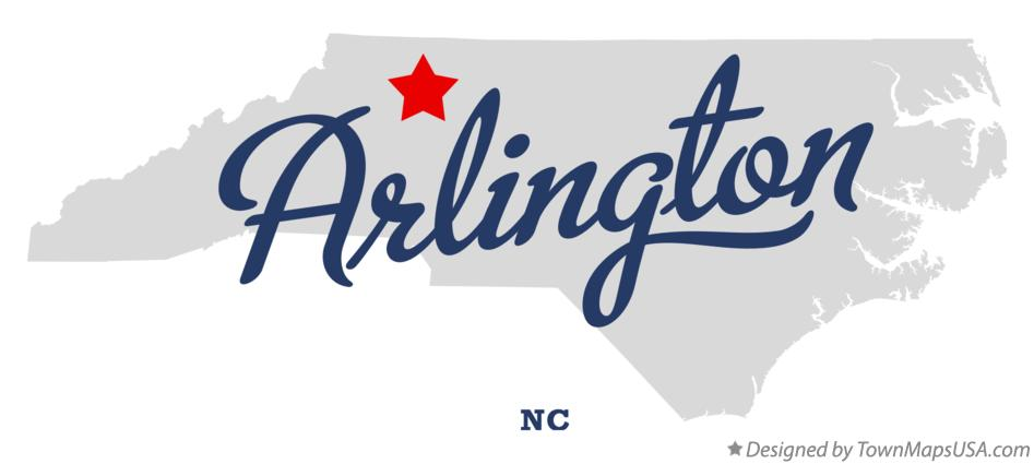 Map of Arlington North Carolina NC
