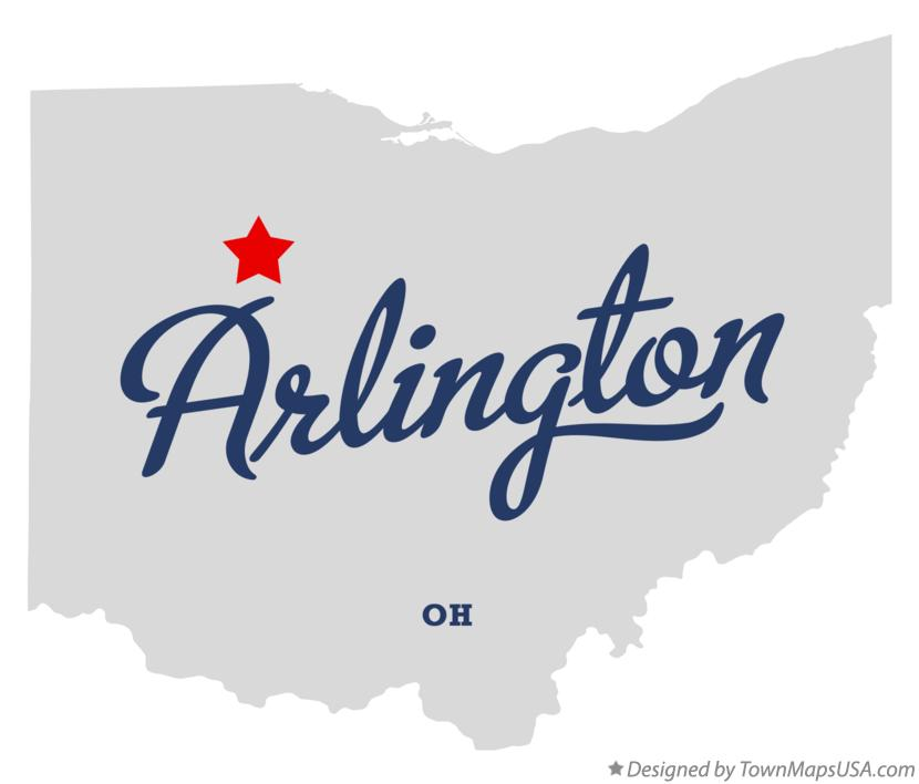 Map of Arlington Ohio OH