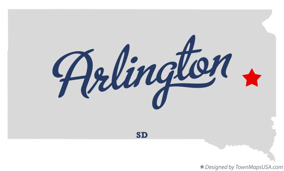 Map of Arlington South Dakota SD